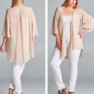 tla2 Sweaters - 💥HP 7/13💥BEAUTIFUL SHEER CARDIGAN IN TAUPE