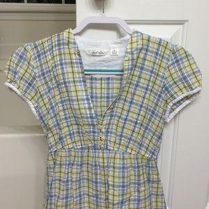 Derek Heart Plaid Cotton Sun Dress