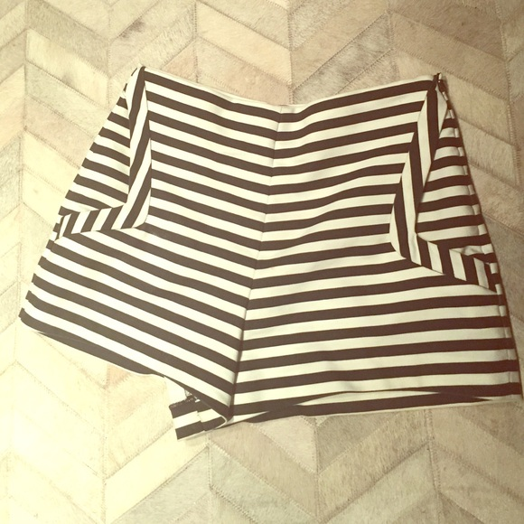 1a3364120d Zara Shorts | Highwaisted Black White Striped | Poshmark