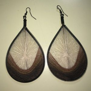 Pretty Brown Woven earrings!