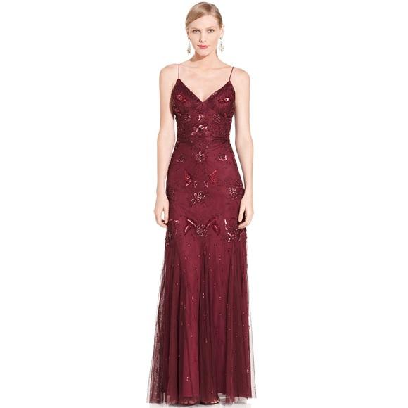 Red Beaded Dress