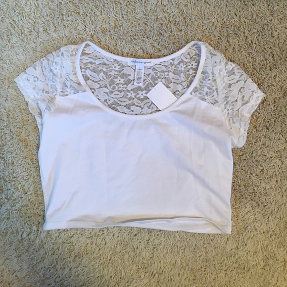 Ambiance Tops Apparel Lace White Crop Top Poshmark