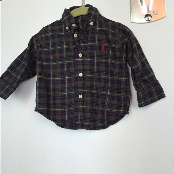 64 off ralph lauren other ralph lauren green plaid for Green plaid button down shirt