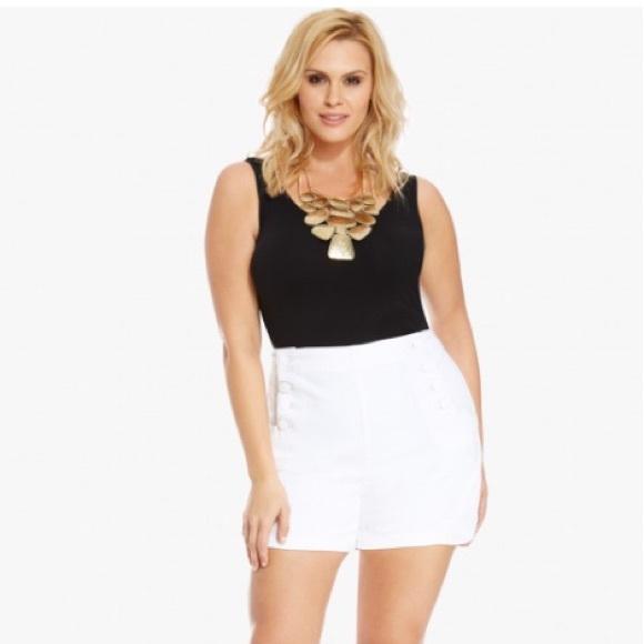 Shorts High Waist Plus Size Sailor White 18w Poshmark