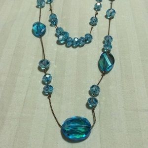 Cookie Lee Jewelry - Pretty blue bead gem necklace