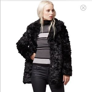 Topshop Jackets & Blazers - Urban Shaggy Faux Fur Coat