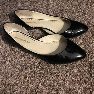 Black patent leather flats
