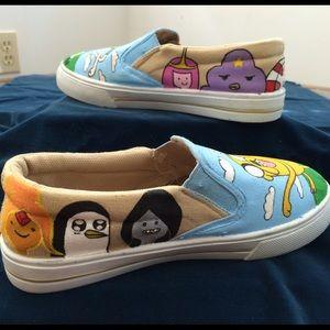 cbf66cabd7 Vans Shoes - Adventure Time Slip-On Shoes