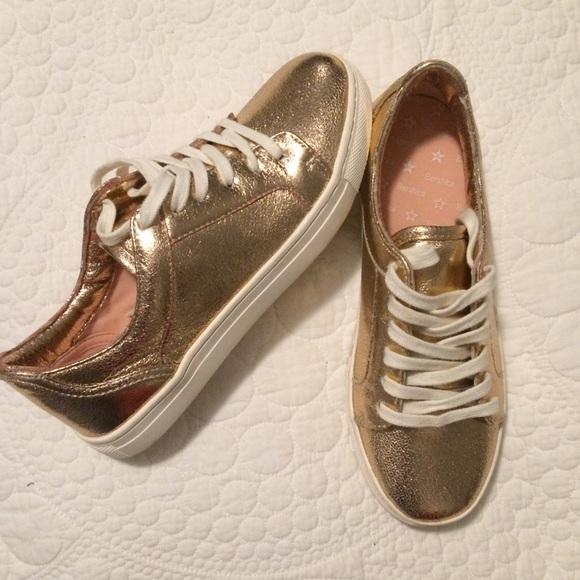 Bershka - BSK Bershka Gold Tennis Shoes from Codi's closet on Poshmark