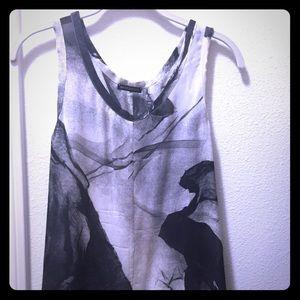 Ann Demeulemeester Tops - Ann Demeulemeester Tank Top in sheer fabric