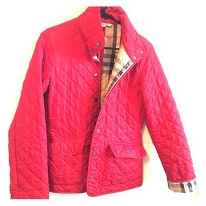 Women's Red Burberry Quilted Jacket on Poshmark