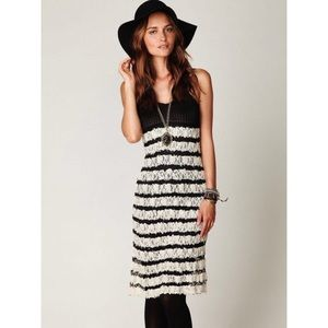 NWT Free People Black and Cream Lace Maxi