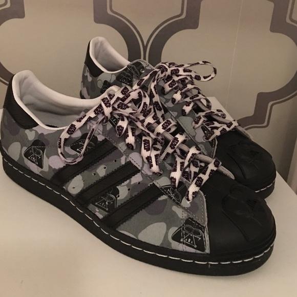 892d05060fb1 adidas Shoes - Custom miadidas Star Wars Darth Vader Superstars