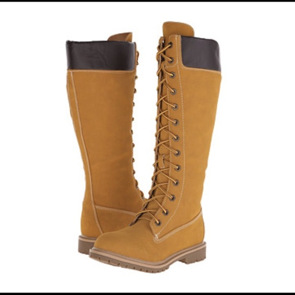 NWT Timberland style knee high boots Brand new. Knee high