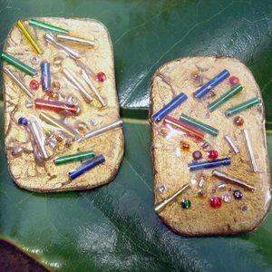 Jewelry - Multi colored pierced earrings