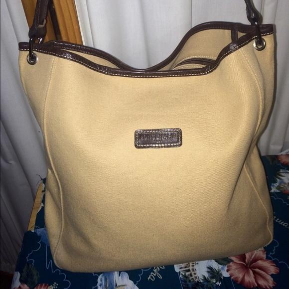 Longchamp Handbags - Longchamp Canvas Leather Tote Shoulder 1432395ab6672