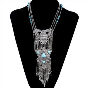 TURKISH STATEMENT TRIANGLE NECKLACE 