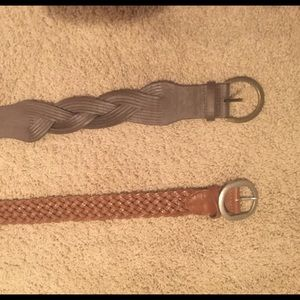 Selling less on merc! 2 brown leather belts