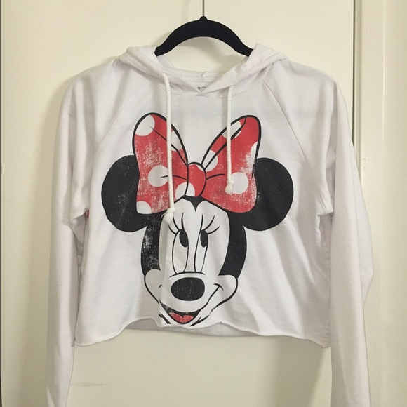 39ccb86f0aa8e Disney Tops - Cropped Minnie Mouse Hoodie