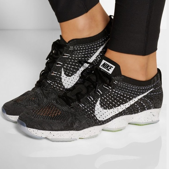 new concept f8d50 c0207 💥NIB💥 NIKE Flyknit Zoom Agility ~ black white