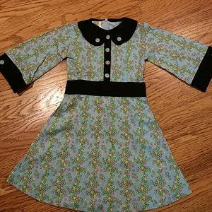 New size 5 Kate Quinn Organic blue dress flower
