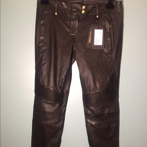 Balmain x H&M  Pants - Balmain X H&M leather pants