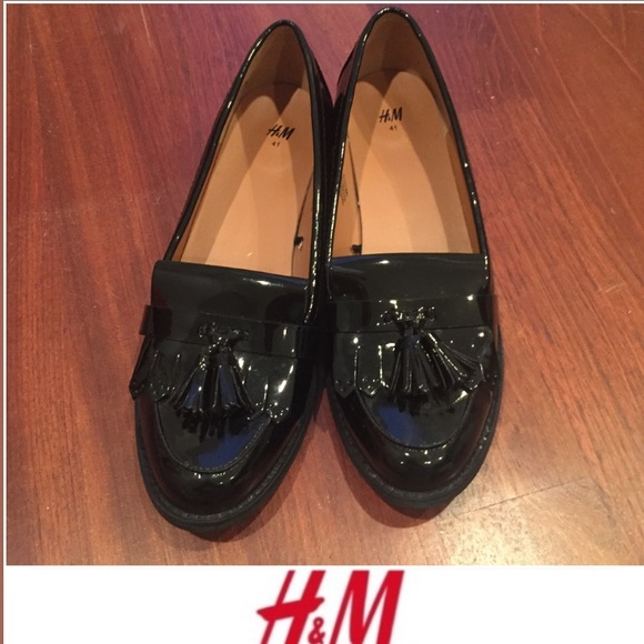 8b8361eb4eb H M Shoes - H M Black Patent Women s Loafers