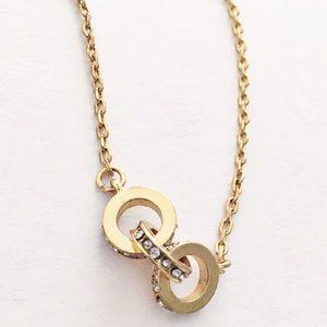 NY&CO gold pavé link necklace