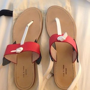 Rag and bone red sandals
