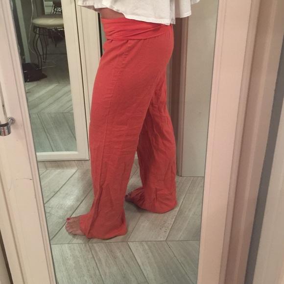 Love tree - Orange linen pants size large from Katie's closet on ...
