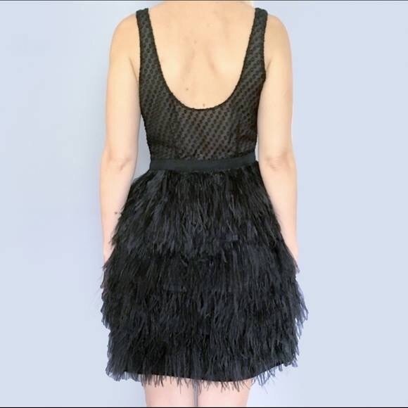 Saks Fifth Avenue Black Label Dresses & Skirts | OSTRICH Feather ...