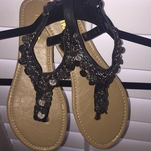 Traffic Shoes - New without tags..Embellished Sandals