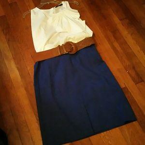 JCREW Cobalt blue pencil skirt