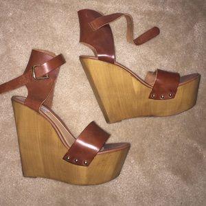 86c565294e3 Shoes - Steve Madden wooden platform wedge sandals 10
