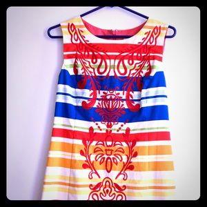 Anthropologie Banded Totem Shift Dress