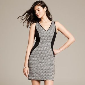 Banana Republic Monogram Tweed Panel Dress