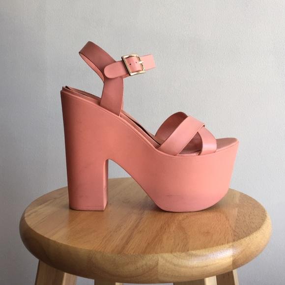 Topshop Shoes   Topshop Pink Platform