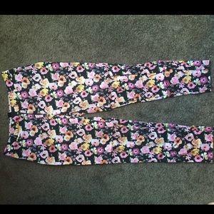 H&M floral size 8 pants