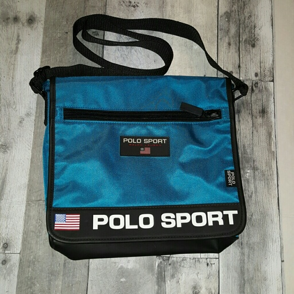 Vintage Polo Sport Messenger Bag Day Pack. M 57963d4b8f0fc44e9d0050d0 5df704489d1c9