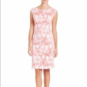 Brand NWT Sue Wong Coral Lace Overlay Dress-Size 0
