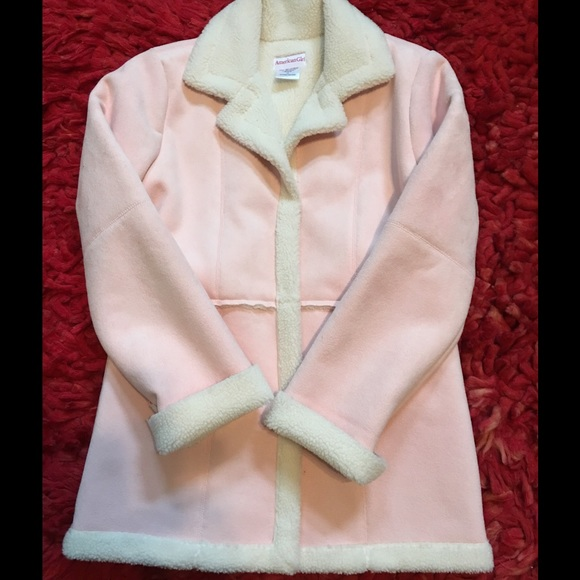 70% off American Girl Other - American Girl Pink Shearling Coat