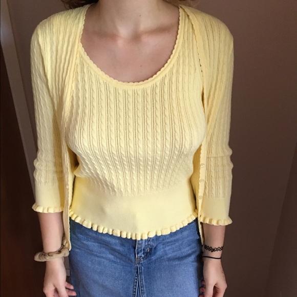 62% off Jeanne Pierre Sweaters - Yellow sweater set from Sophia's ...