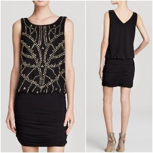 Aqua Dresses & Skirts - AQUA Sexy Black Embellished Sleeveless Dress