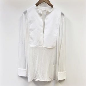 COS | white tuxedo style blouse