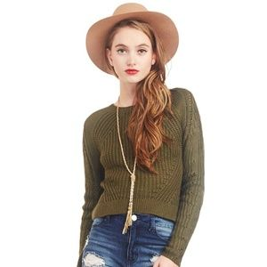 Sweaters - Green Knit Sweater