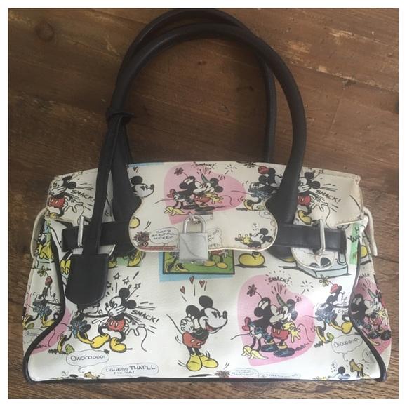 4388a5cc040012 Disney Bags   World Vintage Minnie Mickey Mouse Purse   Poshmark