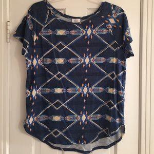 Zara Aztec print tshirt