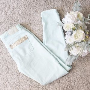 MNG Mint Sequined Jeans