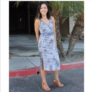 Relished Dresses & Skirts - Grey Striped Dress