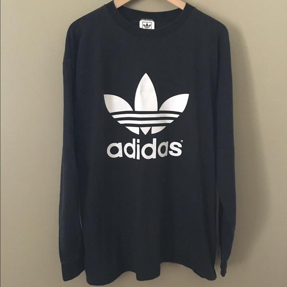 020e0da48038 adidas Tops - Vintage 90 s Adidas Logo Long Sleeve Shirt
